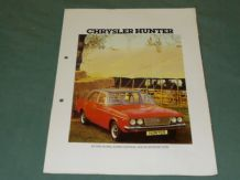 CHRYSLER HUNTER 4 Page Brochure (1977)